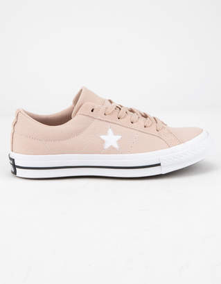 Converse One Star OX Particle Beige & White Womens Shoes