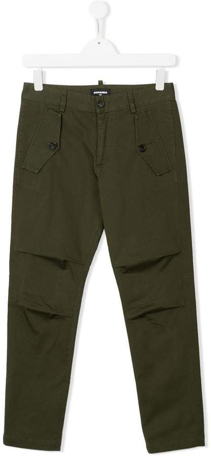 inverted pleat detail trousers