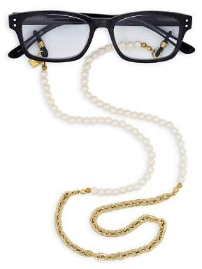 "Corinne McCormack Faux-Pearl Glasses Chain, 29"""