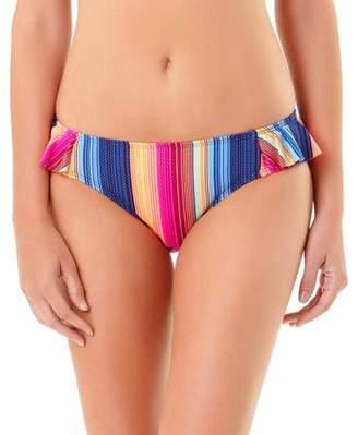 No Boundaries Juniors' Rio Stripe Flounce Scoop Bikini Bottom