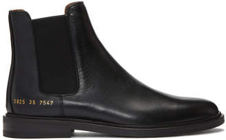 Common Projects Woman By Woman by Black Chelsea Boots