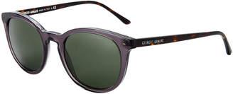 Giorgio Armani AR8060 Grey & Tortoiseshell-Look Round Sunglasses