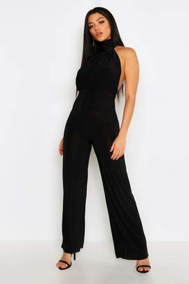 boohoo High Neck Backless Jumpsuit
