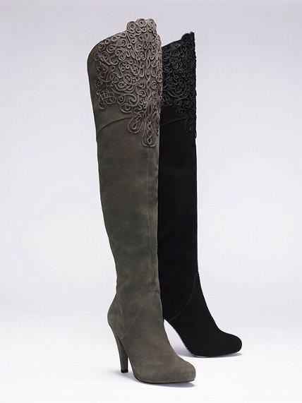 Victoria's Secret Colin Stuart Embroidered Suede Boot