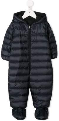 Moncler zipped padded babygrow