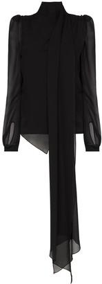 Ronald Van Der Kemp padded-shoulder blouse