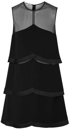 Stella McCartney Black Pleated-trimmed Cady Dress