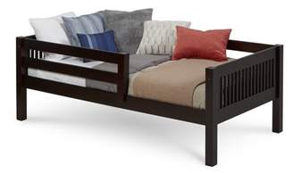 DAY Birger et Mikkelsen Camaflexi Twin Size Bed with Front Guard Rail - Mission Headboard - Cappuccino Finish