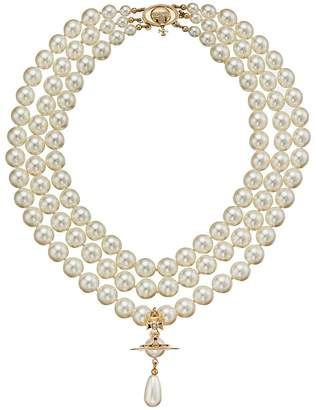 Vivienne Westwood Three Rows Pearl Necklace