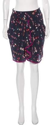 Rebecca Taylor Silk Mini Skirt