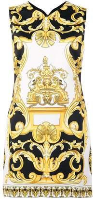 Versace Barocco print mini dress