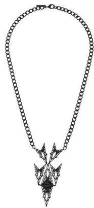 Eddie Borgo Fractured Heart Pendant Necklace