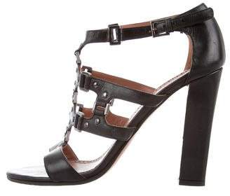 Alaia Leather Embellished Sandals