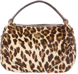 pradaPrada Cavallino Leopard Hobo