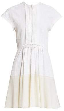 Chloé Women's Two-Tone Linen Shirtdress