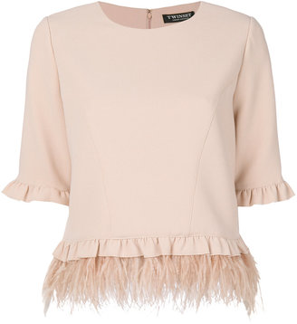 Twin-Set frilled detail blouse $253.36 thestylecure.com