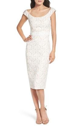 Women's Maggy London Jacquard Midi Dress $148 thestylecure.com