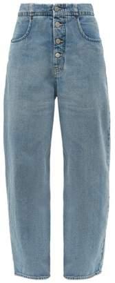 MM6 MAISON MARGIELA Mid Rise Wide Leg Jeans - Womens - Light Denim