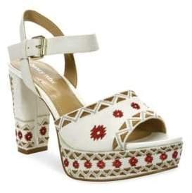 Luxury Rebel Emila Embroidered Dress Sandals