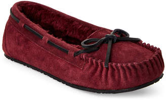 Minnetonka Dark Burgundy Junior Trapper Moccasins