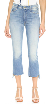 MOTHER Insider Crop Step Fray Jeans $228 thestylecure.com