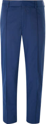 HUGO BOSS Blue Paco Cropped Slim-Fit Twill Trousers - Men - Blue