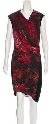 Helmut Lang Abstract Print Knee-Length Dress