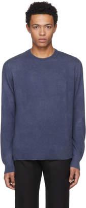 The Elder Statesman Navy Cashmere Billy Classic Crewneck Sweater