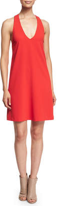 Alice + Olivia Sleeveless Halle Crepe Shift Dress, Red