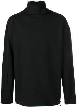 D.Gnak High Collar Raw Cut T-shirt