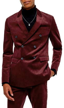 Topman A-List Corduroy Skinny Fit Suit Jacket