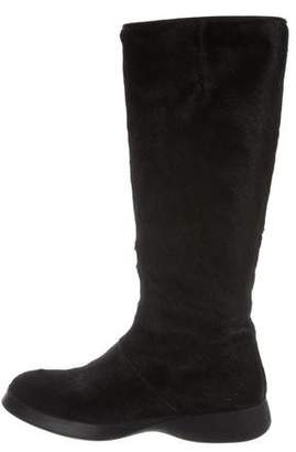 Hogan Ponyhair Riding Boots