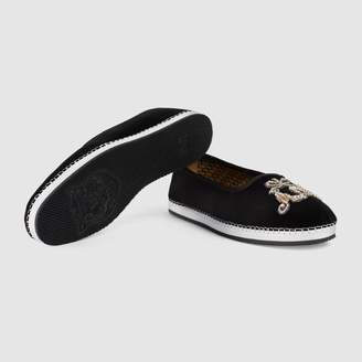 Gucci Men's velvet loafer with AM applique