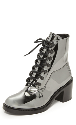 MM6 Lace Up Booties $590 thestylecure.com