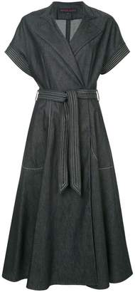 Martin Grant denim wrap dress