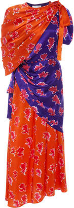 Prabal Gurung Lunu Cutout Silk-Charmeuse Maxi Dress
