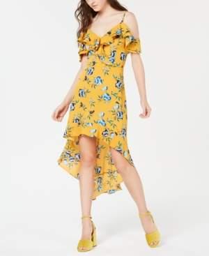 BCX Juniors' Printed Ruffle High-Low Dress