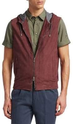 Brunello Cucinelli Suede Hooded Vest