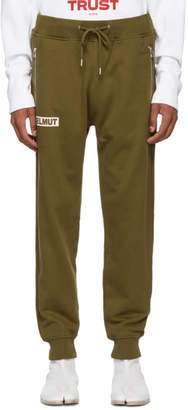 Helmut Lang Khaki Logo Lounge Pants