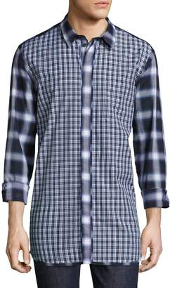 Givenchy Men's Plaid Cotton Sportshirt