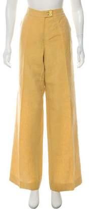 Etro Linen Wide-Leg Pants