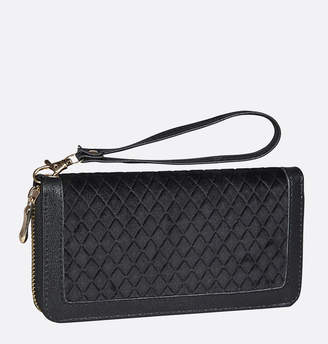 Avenue Velour Quilted Wallet