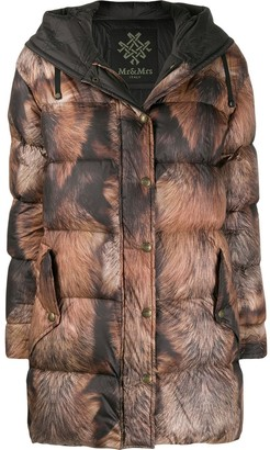 Mr & Mrs Italy printed puffer coat