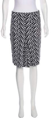 Diane von Furstenberg Patterned Knit Skirt