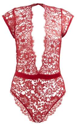 Coco de Mer Venus Lace Bodysuit - Womens - Red