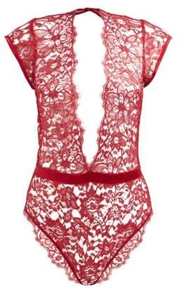 Coco De Mer - Venus Lace Bodysuit - Womens - Red