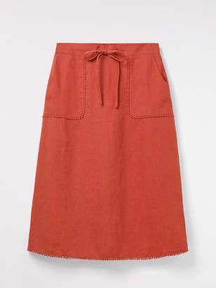 White Stuff Portia Plain Linen Skirt
