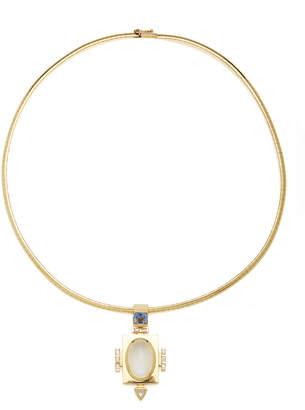Ark Devi 18K Gold Multi-Stone Necklace