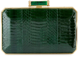 Judith Leiber Couture Soho Snakeskin Box Clutch Bag