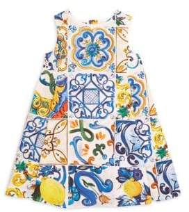Dolce & Gabbana Little Girl's& Girl's Abstract Print Dress